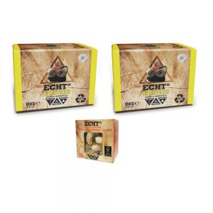 ECHT Combi Deal Hotsticks Kokosbriketten 10kg met gratis Aanmaakkrullen