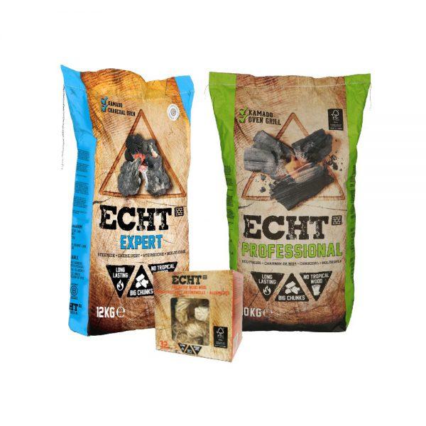 ECHT Combi Deal Professional Expert Houtskool & gratis Aanmaakhoutwol