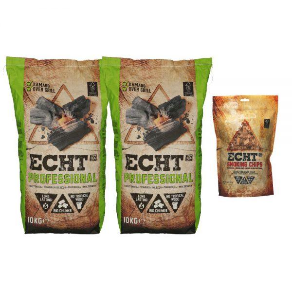 Combi deal ECHT Professional houtskool & Smoking Chips