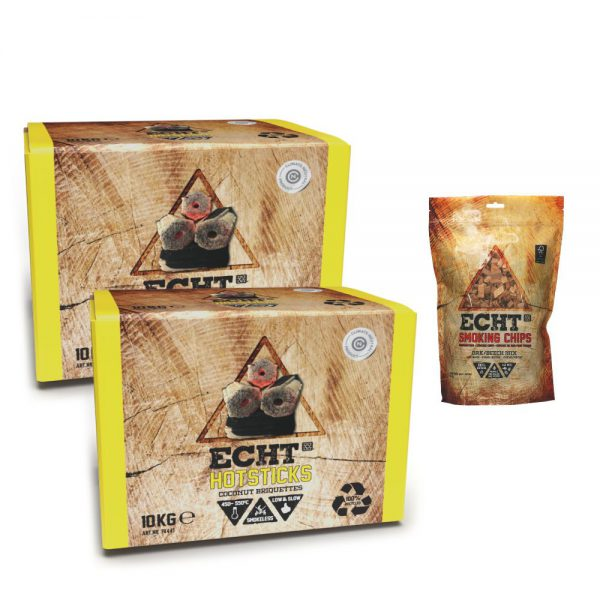 ECHT Hotsticks kokosbriketten & Smoking Chips